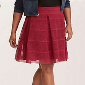 Torrid Flare Skirt Striped Sheer Plus Size 2
